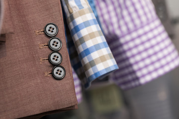 Closeup of man clothes sleeves