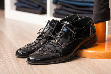 A pair of leather shoes
