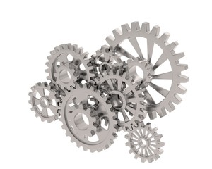 gears on white