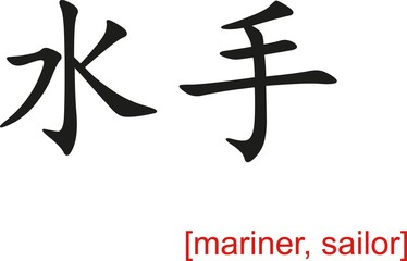 Chinese Sign for mariner, sailor