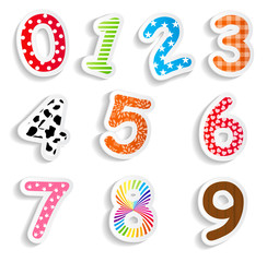 Funny Comic Numbers Vector Illustration