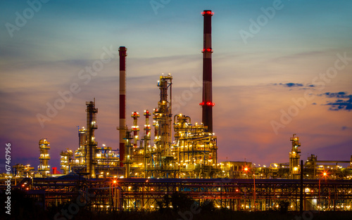 Staande foto Industrial geb. View of the refinery petrochemical plant in Gdansk, Poland