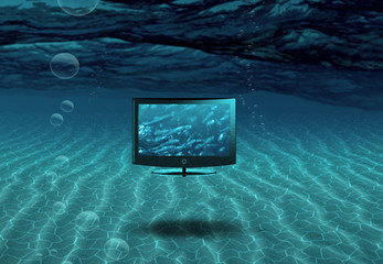 Flat Panel Floats in Sea