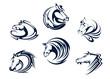 Horse mascots and emblems