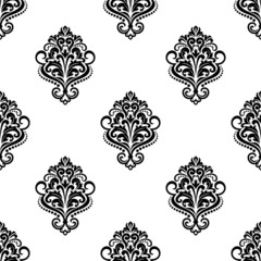 Floral vintage seamless arabesque pattern