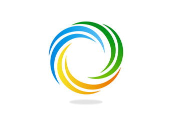 circle-movement-dynamic-abstract-vector-logo