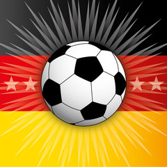 germany flag and ball 2014
