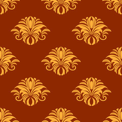 Dainty yellow colored floral seamless pattern
