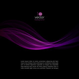 Fototapety Shiny color waves over dark vector backgrounds