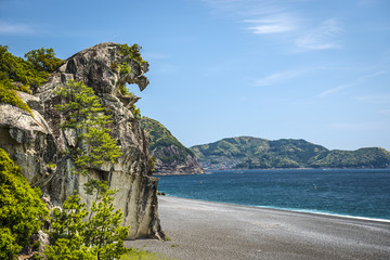Shishi-iwa Lion Crag in Kumano, Japan
