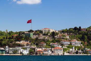apartment in Istanbul Bosporus seafront, Turkey.