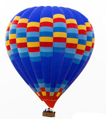 hot air balloon isolated on white