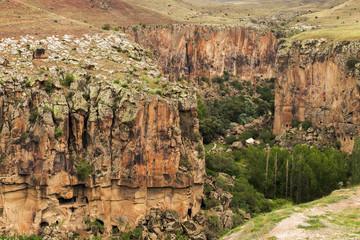 Mountain landscape in Cappadocia, Turkey