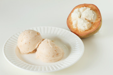 santol sherbet ice cream with fresh santol