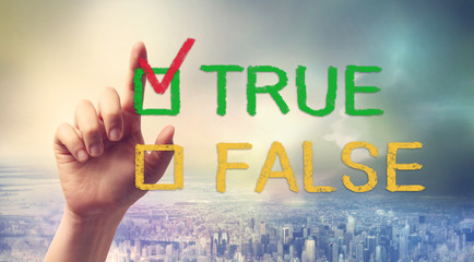 TRUE or FALSE checkbox with hand