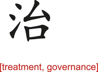 Chinese Sign for treatment, governance