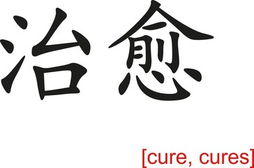 Chinese Sign for cure, cures