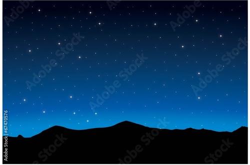 Fototapeta Night landscape