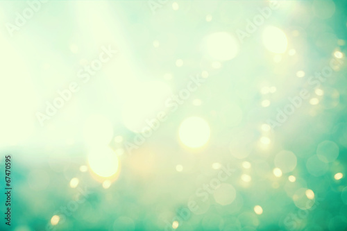 Abstract teal light background poster