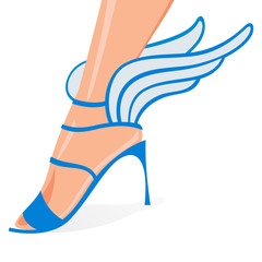 Winged woman shoes