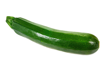 Zucchini squash isolated on white