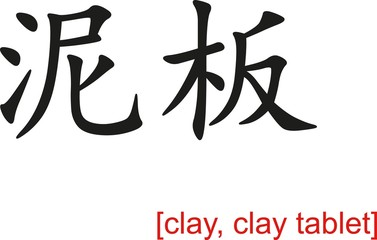 Chinese Sign for clay, clay tablet