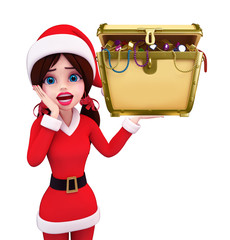 Santa Girl Character with