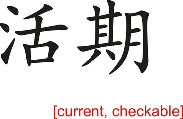 Chinese Sign for current, checkable