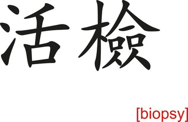 Chinese Sign for biopsy