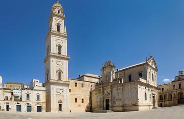 Lecce Chatnedral on the Piazza del Duomo. Puglia. Italy.