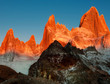 canvas print picture - Fitz Roy in der Abendsonne