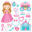 Princess design elements - 67473396