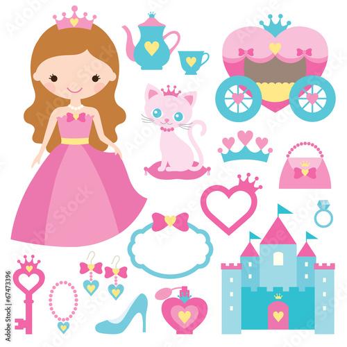 Princess design elements - 67473396
