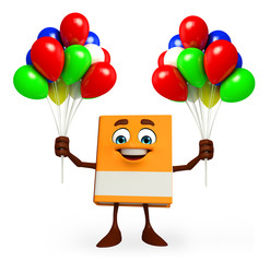 Book Character with balloons
