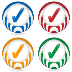 set of four icon with check box