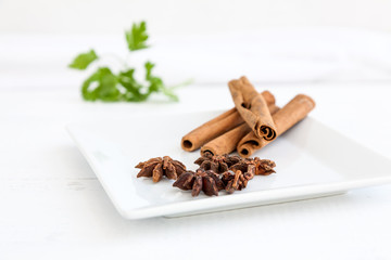 Cinnamon sticks with star anise