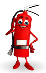 Fire Extinguisher character with best sign