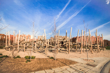 Wooden Playground in Madrid