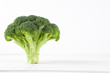 Broccoli with white background