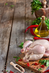 Raw chicken background