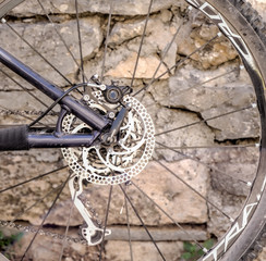 derailleur of mountain bike.