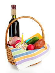 Easter basket: Conceptual photo of traditional easter food in