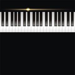 musikalischer Hintergrund mit Klaviertasten