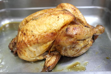 Photograph of a roast chicken