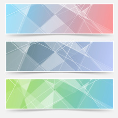 Modern abstract crystal structure cards set