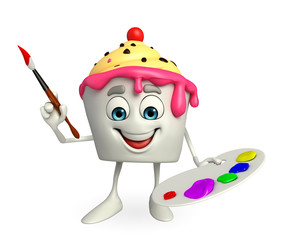 Ice Cream character with Color plate