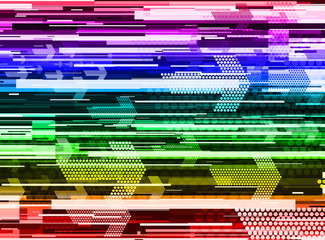 multicolor speed abstract