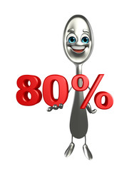 Spoon character with Percentage