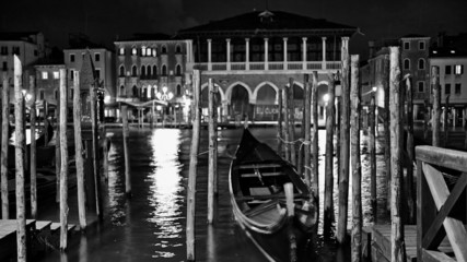 The streets of Venice Long exposure By Night.