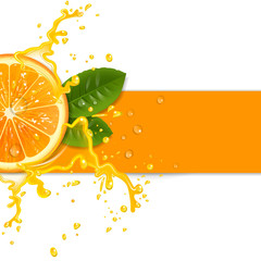 fresh orange background